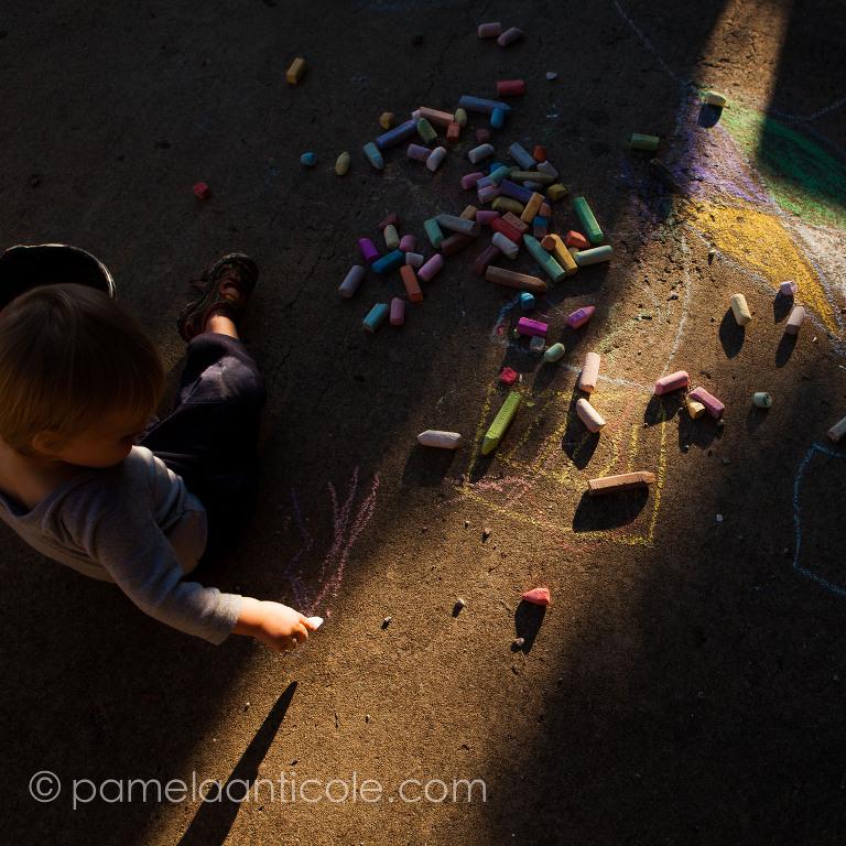 childhood fine art print pittsburgh chalk