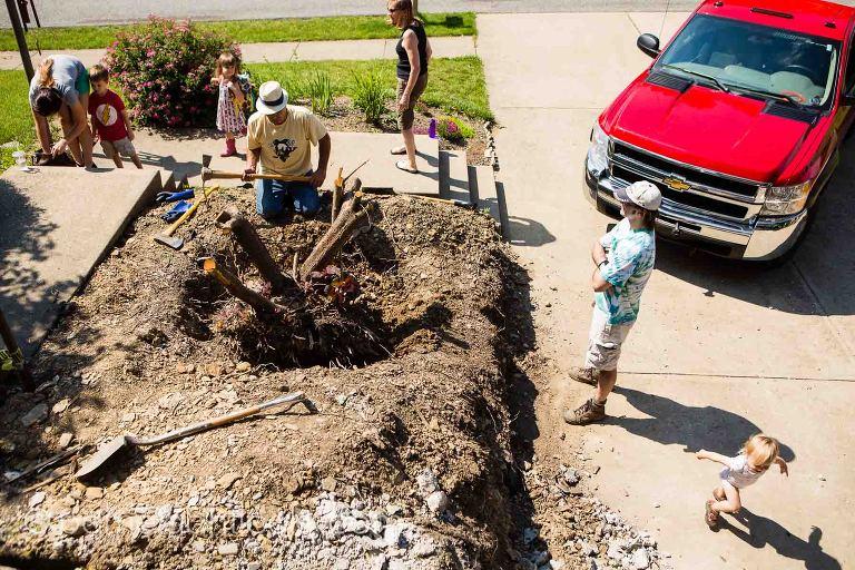 front yard renovations