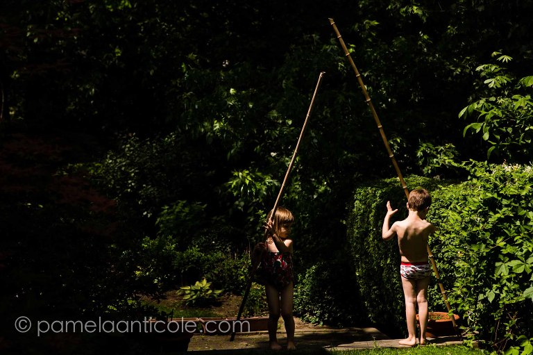 kids playing outside in lifestyle photo