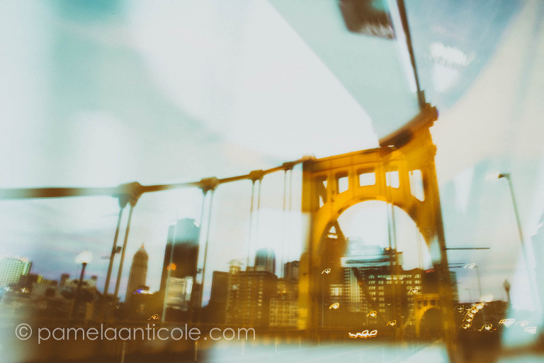 roberto clemente bridge fine art print black and gold