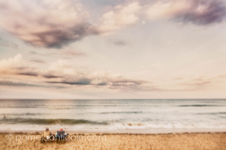 impressionistic photograph fine art print on the beach icm