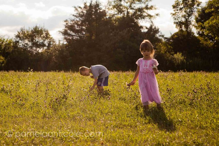 kids walking through a field of wildflowers documentary photographer day in the life pittsburgh