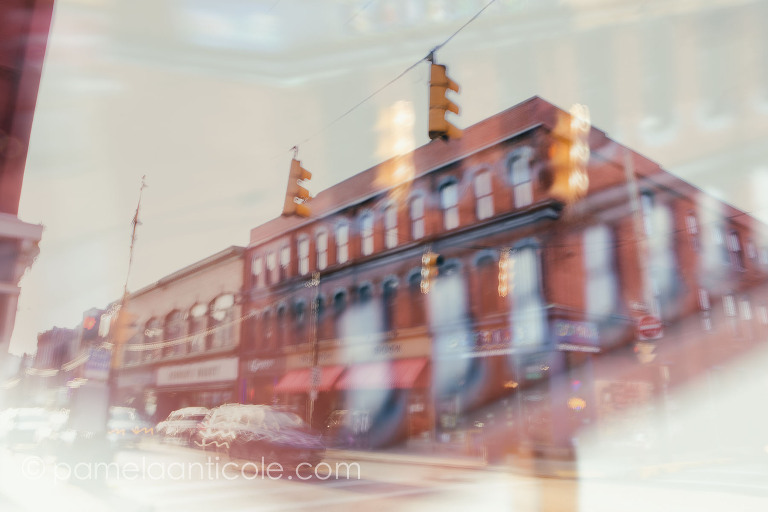 pittsburgh wall art, carson street, south side pittsburgh, icm, double exposure, creative pittsburgh art