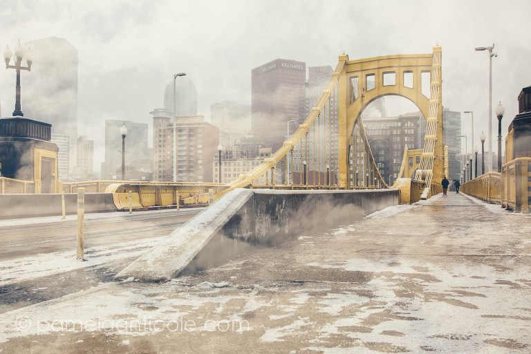 multiple exposure, andy warhol bridge, pittsburgh city skyline, unique pittsburgh gift, unique city art print