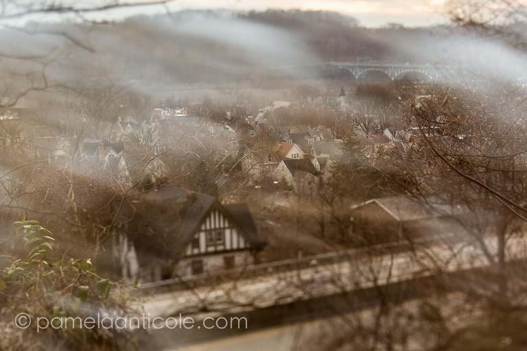 tilt shift, pittsburgh suburbs, aspinwall, sharpsburg, double exposure, urban, pittsburgh towns