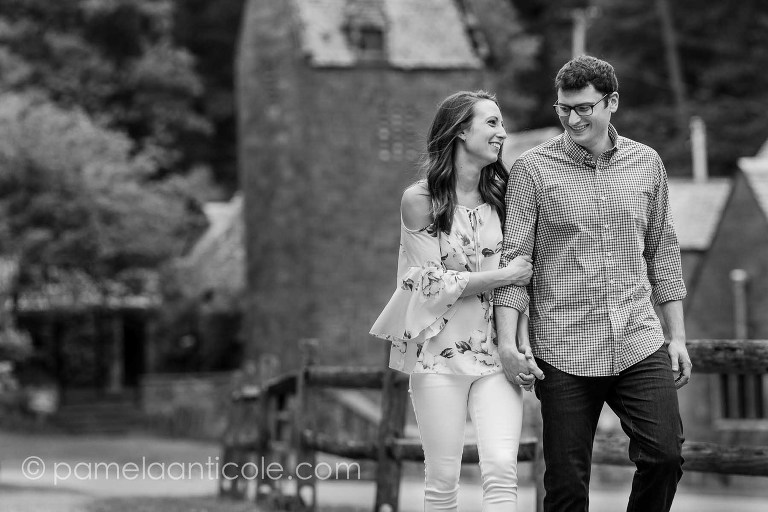 black and white bride and groom, experienced pittsburgh wedding photographer, relaxed engagement photos in pittsburgh, relaxed wedding photos, hartwood acres engagement session