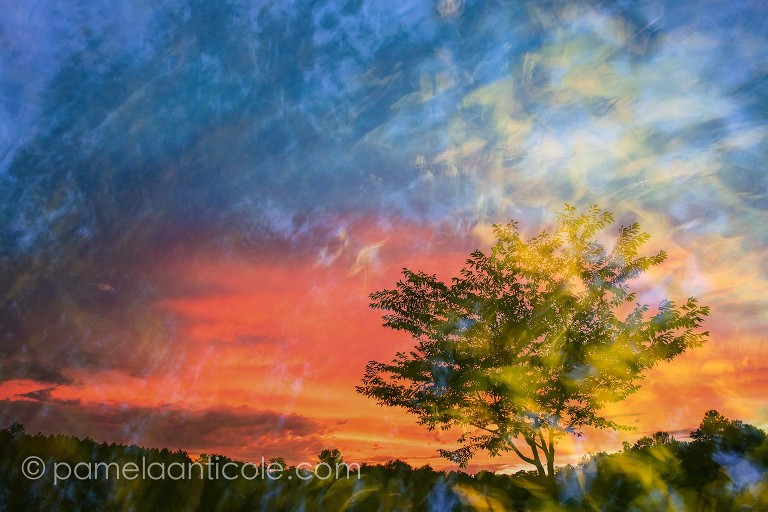 creative sunset art, abstract sunset photo, unique nature art for sale, colorful sunset, pamela anticole, pittsburgh