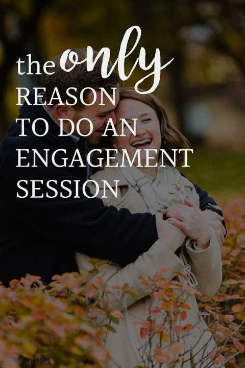 the ONLY reason to do an engagement session text overlaid on an image of a couple laughing and having fun together
