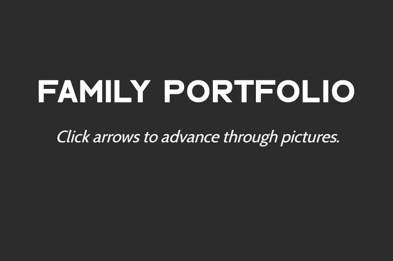 family portfolio. click arrows to advance through pictures.