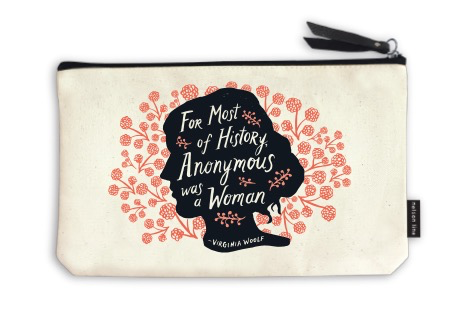 elegant crafted change purse with feminist quote
