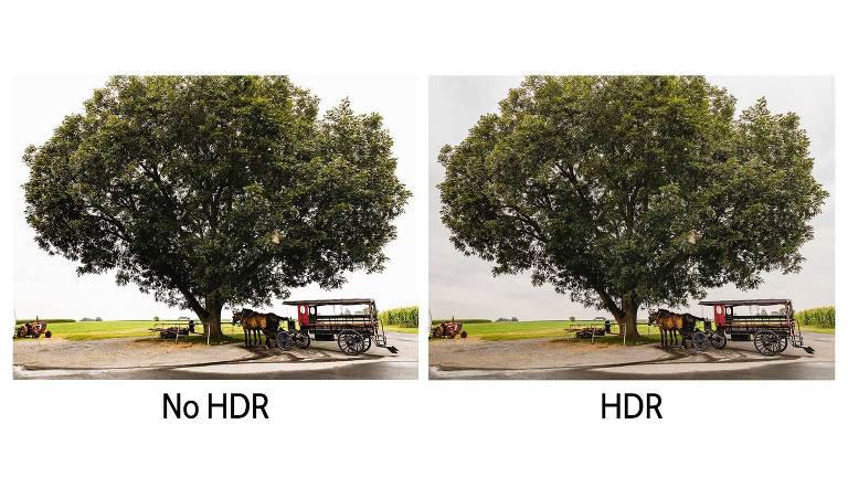 Side by side comparison of HDR and no HDR