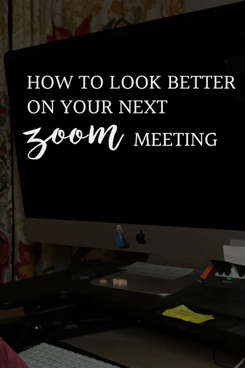 how to look better on your zoom call, with easy lighting adjustment