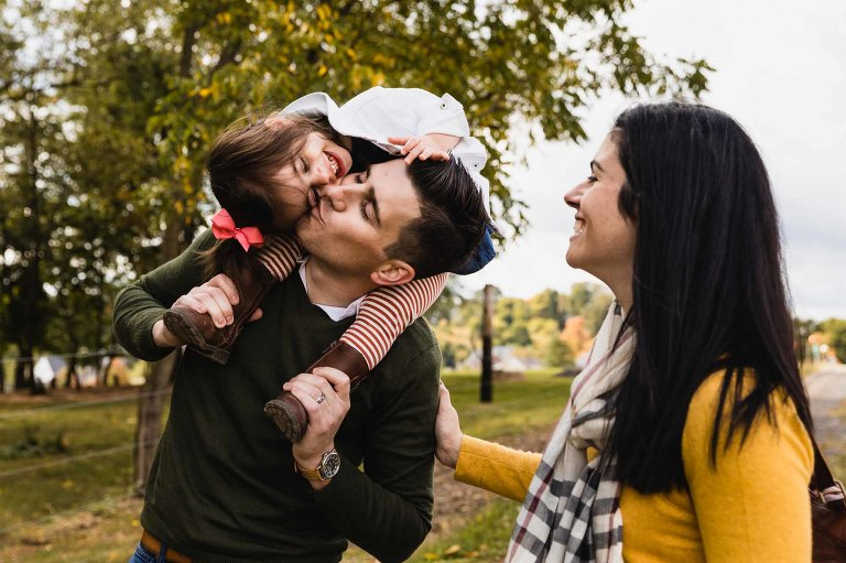 candid family pictures from professional photographer in pittsburgh area